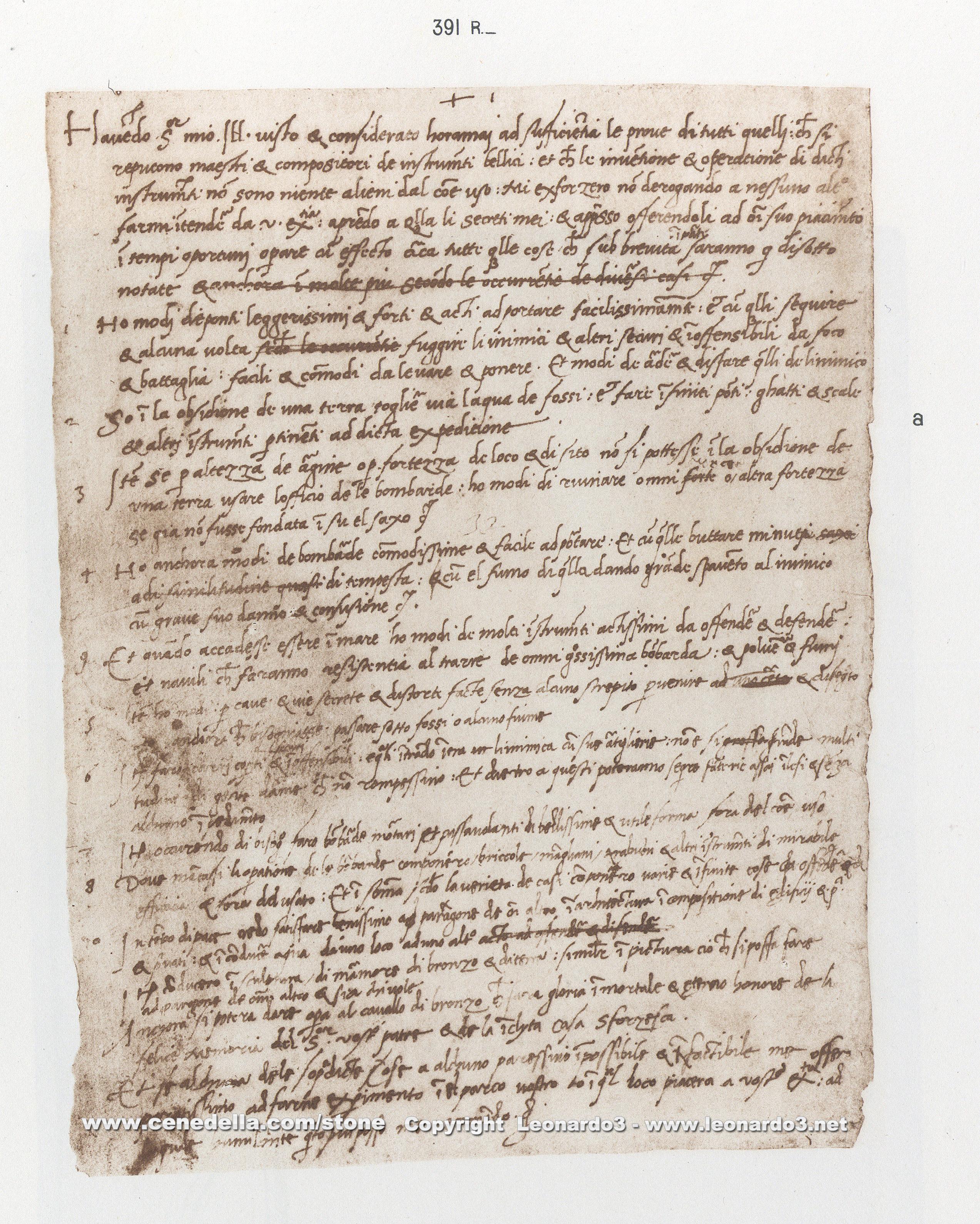 Leonardo Da Vinci Resume, Hoepli edition