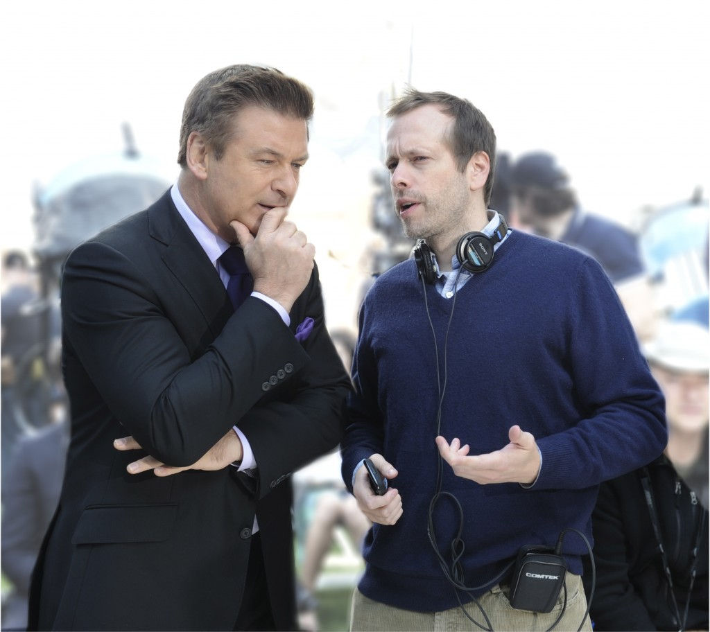"Alec Baldwin and Robert Carlock on the set of ""30 Rock"" on ""How to Be Funny on TV"" for the book, ""The Art of Doing"""
