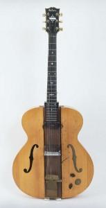 """Les Paul's electric guitar, dubbed, """"The Log"""""""