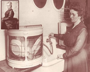 Josephine Cochrane and her dishwasher