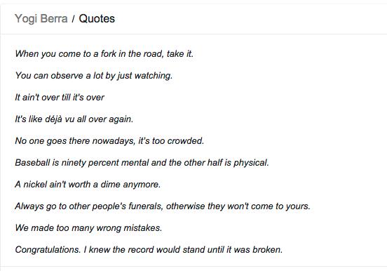 Yogi Quotes